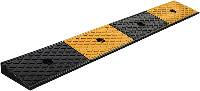 g/j/f Rampa de Movilidad para Puertas Altas Rampa Portátil con Umbral de Goma Entrada para Silla Ruedas Scooter Rampa de Bordillo Fácil Acceso Silla Discapacitados Alta Resistencia(Size:100x15x4cm)