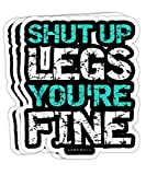 Peach Poem Shut Up Legs You're Fine - Funny Workout Tanktops Gift Decorations - 4x3 Vinyl Stickers, Laptop Decal, Water Bottle Sticker (Set of 3)