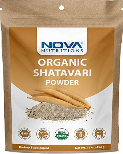 Nova Nutritions Certified Organic Shatavari Powder 16 OZ 454 gm product image