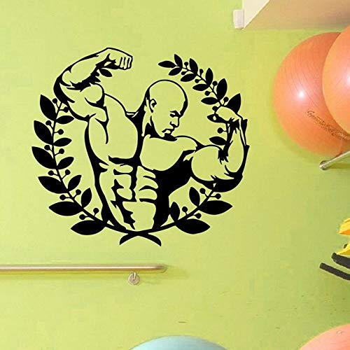 Geiqianjiumai creatieve muursticker gym vinyl van interieurmuurschildering gym room mural poster