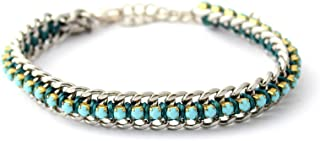 Wakami Wrap Bracelet | Handmade Boho Jewelry for Women | Braided, Fair Trade, Charm Bracelet | Smile Bracelet - Turquoise/...