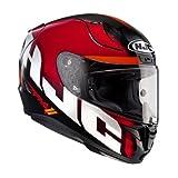 HJC Helmets 1685_20424 Casco de Moto RPHA 11 Spicho MC1, Hombre, Negro y Rojo, Large
