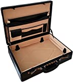 Professionnel Mallette Attaché-Case Extensible en Cuir Véritable