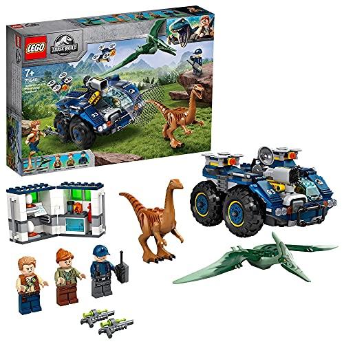 LEGO 75940 Jurassic World Fuga del Gallimimus y el Pteranodon, Juguete de Construcción de Dinosaurios para Niños 7+ años