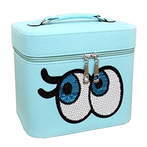 Big Yeux Voyage Trousse de toilette Maquillage Box Cosmetic Bag Box Cosmetic,Sky