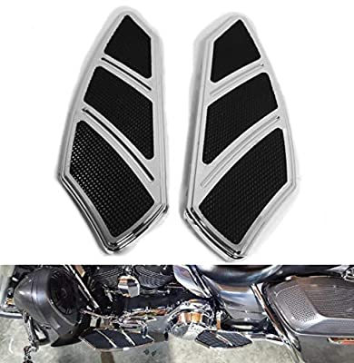 HTTMT H1315- Chrome Groove Rider Front FootBoard Floorboard Compatible with Harley Touring Softail 84-15
