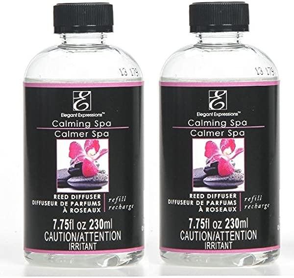 Hosley Aromatherapy Set Of 2 Premium Calming Spa Floral Scent Reed Diffuser Refill Oil 230 Milliliter Ideal Gift For Wedding Reiki Meditation Pet Dog Bathroom Odor Eliminator O4