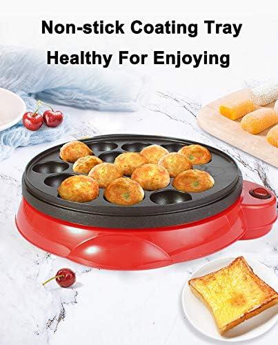 Wonepic Takoyaki Pan Haushaltselektro Takoyaki Maker f/ür das Grillen Backen oder Dessert Making Takoyaki Sandwiches Kuchen-Pop Red