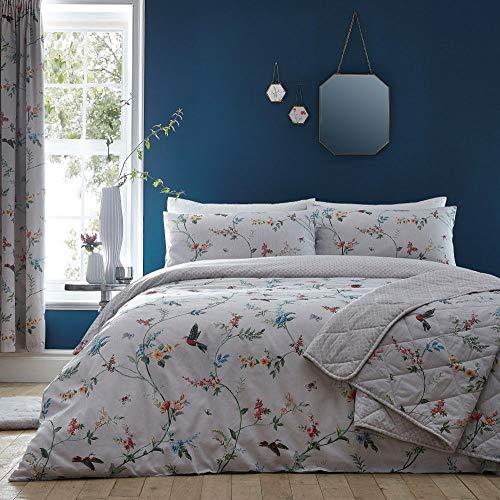Dreams & Drapes Mansfield Parure de lit, 52% Polyester, 48% Coton, Gris, Double