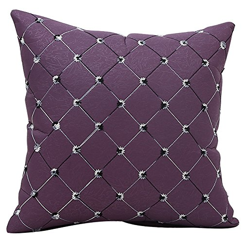 JOTOM Imitation Diamond Pattern Throw Pillow Case,Cushion Cover for Home Decorative Couch Sofa,45x45cm (Purple)