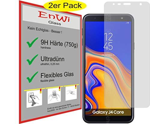 EnWi   2X Panzer-Glas-Folie 9H Bildschirm-Schutz-Folie für Samsung Galaxy J4 Core