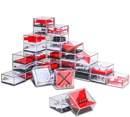 Mopoin 24 Stück Geduldsspiele, Mini Denkspiel Knobelspiel Mitgebsel Kindergeburtstag Geduldsspiel Kinder Geschicklichkeitsspiel für Kinder und Erwachsene,Geschenk für Weihnachten,Stress ablassen