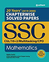 SSC Chapterwise Solved Papers Mathematics 2019-2000