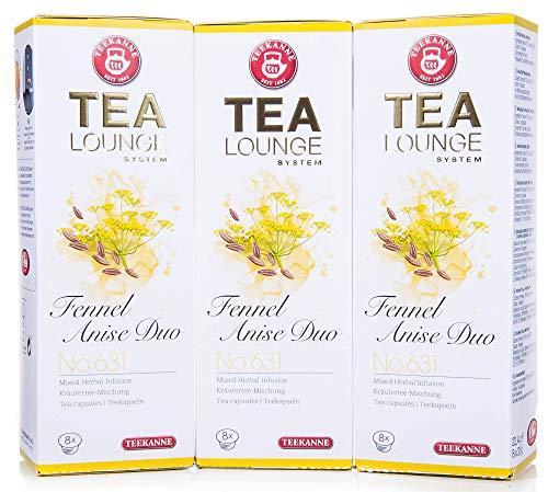 Teekanne Tealounge Kapseln - Fennel Anise Duo No. 631 Käutertee (3x8 Kapseln)