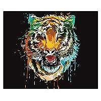 数字油絵 No Noder By NumbersのDIYの絵は、アクリルのカラフルな動物の手描きの油絵の具で油絵の具を塗装済みの絵画 (Color : 992075, Size(cm) : 60x75cm no frame)