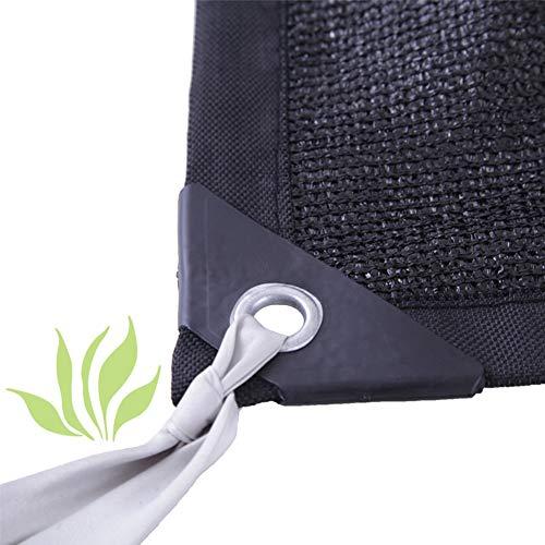 IDWOI Sonnenschutz Tuch Beschattungsnetz Isolieren Wärmeschutzpflanzen Sonnenschutz Wärmedämmung Senken Sie Die Temperatur, 27 Größe, Anpassbar (Color : Black, Size : 1x1m)