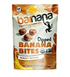 Barnana Organic Chewy Banana Bites - Peanut Butter - 3.5 Ounce - Delicious Barnana Potassium Rich Banana Snacks - Lunch Dinner Sports Hiking Natural Snack - Whole 30, Paleo, Vegatarian