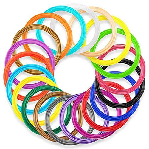 Fltaheroo 10 Colors 3D Pen PLA Filament Refills, Each Color 33 Feet, Total 330 Feet