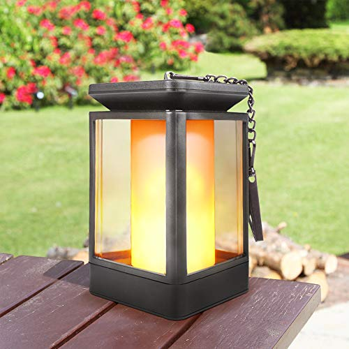 Arzerlize Solar Lantern Outdoor, 2020 Upgraded Multi-Mode Garden Decorations, Outside Hanging Solar Lights Led Decorative Flame Lantern Easter Landscape Yard Art Patio Decor Waterproof Yellow 1/P