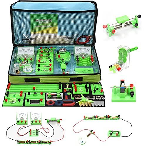 Pevfeciy Experimentos para Niños,Laboratorio De Física Kit Circuitos Electronicos,Laboratorio Electricidad Kit Electrico...