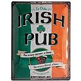 Nostalgic-Art 23226 Open Bar - Irish Pub, Blechschild 30x40