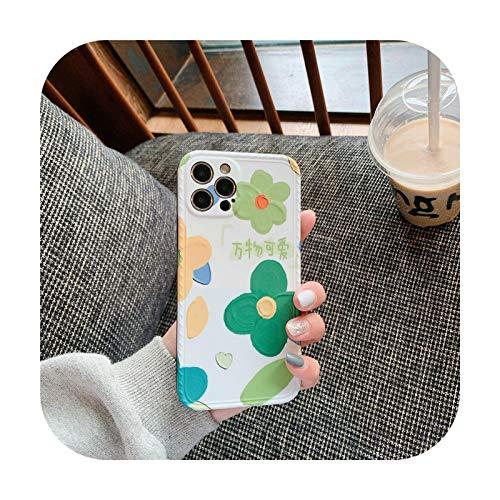 Fundas de teléfono de flores de moda para iPhone 12 Pro 11 Pro Max XR X XS Max 7 8 Plus SE 2020 Funda protectora de silicona suave para iPhone 7 u 8