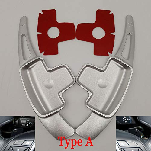 DANDELG Car Steering Wheel Paddle Shift Extension Shifters Car Sticker,For Mercedes Benz AMG A45 C63 CLA45 GLE GLA CLS GLS W205 W213