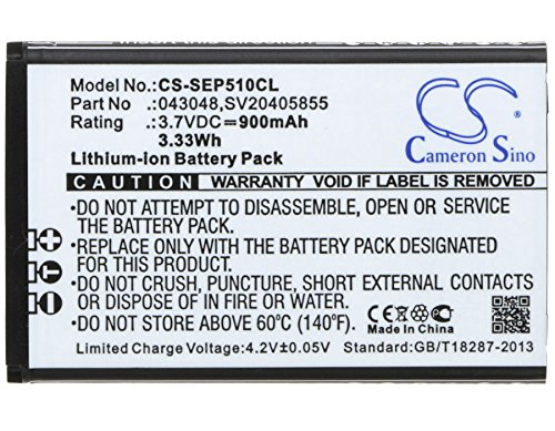 Cameron Sino Replacement Battery for Swissvoice SV20405855 Swissvoice Epure fulleco Duo
