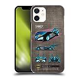 Head Case Designs Licenciado Oficialmente Batman DC Comics 1997 Película Historial de batmóviles Carcasa rígida Compatible con Apple iPhone 12 Mini