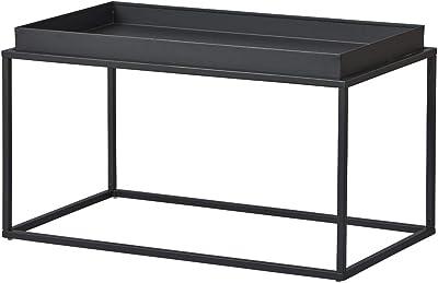 Inter Link Lounge N02 Tavolino, Metallo, Nero, 80 x 45 x 45