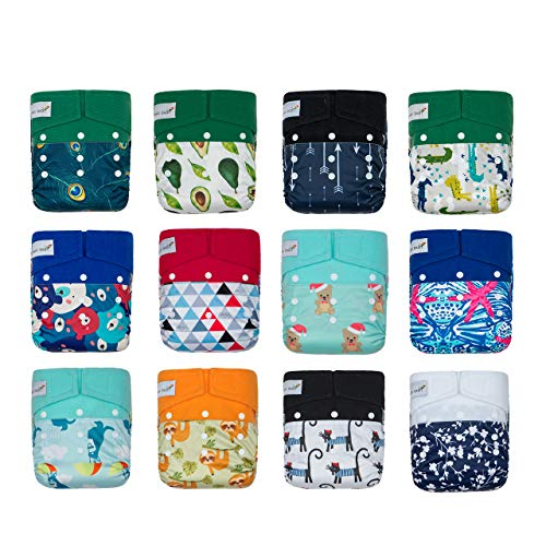 KaWaii Baby One Size Heavy Duty HD3 Pocket Cloth Diapers for Boy - Pack of...