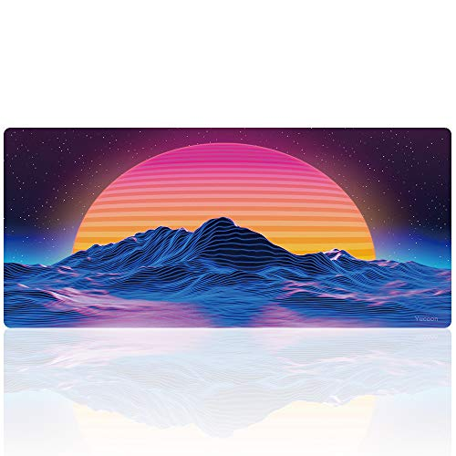 Gaming Mouse Pad Customized Extended Large Desk Mat Non-Slip Mouse Mat (90x40 taiyang)