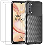 ivoler Case for Oppo Find X2 Lite 5G + 3 Pack Tempered