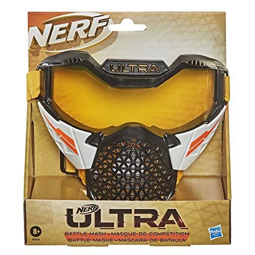 Hasbro Nerf Ultra Maschera da battaglia con cinghia regolabile, design traspirante, Protezione per il volto per i combattenti Nerf Ultra