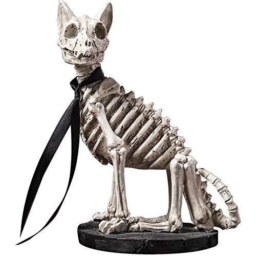 FFFTAN Pequeña Estatua,Lindo Creativo Simple Resina Cráneo Perro Estatua Encantadora Pequeñas Artesanías para El Escritorio del Hogar Estante Decoración Familia Parejas Regalo De Arte De Colección