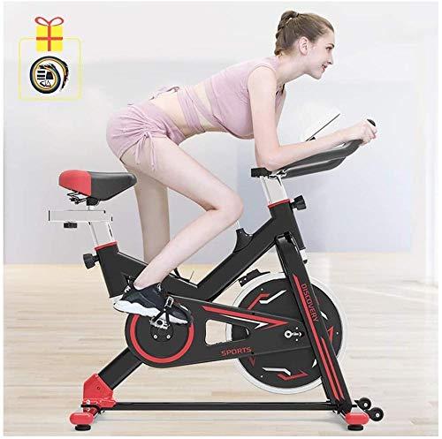 Indoor Cycling Bike Silent Belt Drive Cycle Bike met verstelbaar stuur Seat Fitness Bike en Ab Trainer Sportuitrusting Ideaal Cardio Trainer dsfhsfd(Upgrade)
