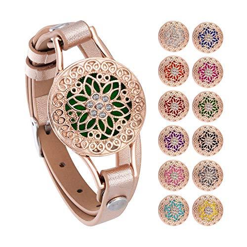 HooAMI Vrouwen Aromatherapie Ketting Essentiële Olie Diffuser Armband ✿ Aromatherapy Bracelet Rose Gold