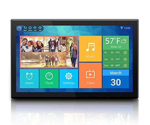 """Aluratek (AWDMPF117F) 17.3"""" Hi-Res WiFi Digital Photo Frame with Touchscreen IPS LCD Display & 8GB Built-in Memory (1920 x 1080 Resolution), Photo/Music/Video Support, Wall Mountable"""