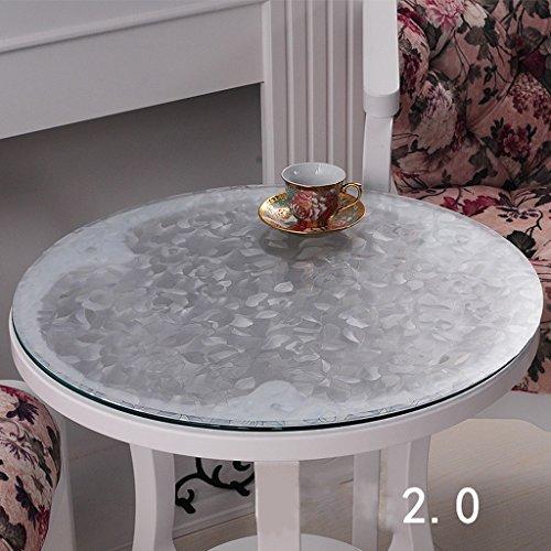 Nappe en PVC imperméable à l'eau douce de nappe de nappe de nappe en verre de nappe de PVC ( taille : 80*80cm )