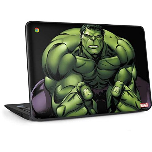 Skinit Decal Laptop Skin Compatible with Chromebook 11 G6 EE - Officially Licensed Marvel/Disney Hulk is Angry Design
