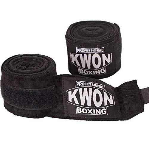 Kwon professional Boxing Bandage elastisch schwarz-rot-weiß