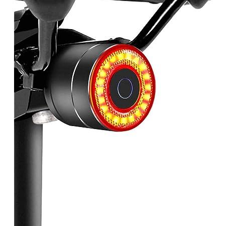 テールライト 自転車 G keni ブレーキランプ 自動点滅 高輝度 USB充電式 アルミ合金製 IP65防水 ロードバイク クロスバイク サイクル リアライト