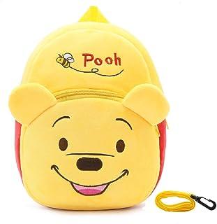 Winnie The Pooh Mochila de peluche con arnés de seguridad para niños pequeños con bolsa de almuerzo infantil infantil