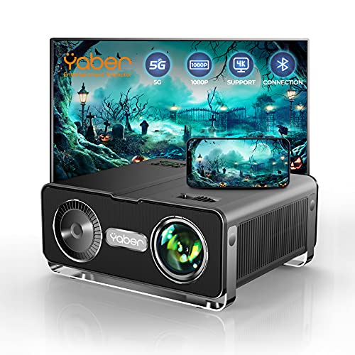 YABER V10 5G WiFi Bluetooth Projector 9500L Full HD Native 1080P Projector [Carrying Bag Included]...