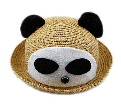 Koala Superstore Cool Panda Baby Boys Paglia Cappello Estivo Cappello Secchio Topper, caffè