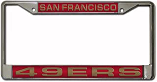 NFL San Francisco 49ers Chrome Laser License Plate Frame