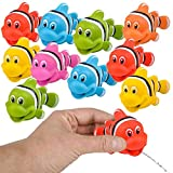 ArtCreativity Rubber Water Squirting Clownfish, Pack of 12, Bathtub and Pool Toys for Kids, Safe and Durable Fish Water Squirters, Birthday Party Favors, Goodie Bag Fillers