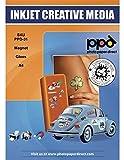 PPD Papel micro-poroso para imanes con acabado brillante, calidad Premium y de secado instantáneo para impresión de inyección de tinta A4 x 5 hojas PPD-31-5