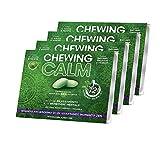 Chewing Calm Suplemento relajante en Chewing Gum contra la ansiedad, el estrés, el nerviosismo y el cansancio mental con melissa, teanina, espino, gaba y vitaminas - 4 paquetes de 9 gomas
