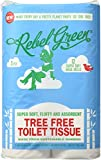 Rebel Green Tree Free Bamboo Toilet Tissue - Individually Wrapped Toilet Paper - Fluffy & Absorbent Bamboo Toilet Paper - Carbon Neutral, Eco Friendly Toilet Paper - (12 Mega Rolls, 350 3 Ply Sheets)